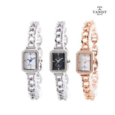 [TANDY] 탠디 다이아몬드 원터치 셀프밴드 팔찌시계 T-4035 이미지