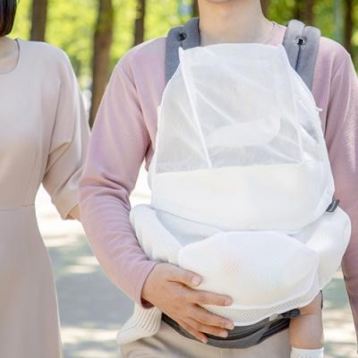 [꼼마망] 미세먼지 차단 나노필터 아기띠 커버/미세먼지에도 우리 아이 외출 걱정 없게 이미지