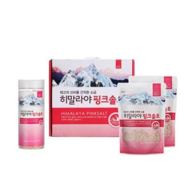 [솔트산] 히말라야 핑크솔트 3종세트(용기+핑크솔트 250g*2개) 이미지