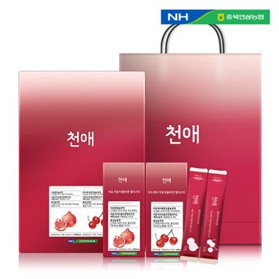 [농협] 천애 저분자 콜라겐젤리스틱60포 (석류30포+타트체리30포) + 쇼핑백 이미지