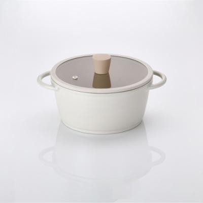 [라체나] 피콕 IH 친환경 세라믹 킹덤 양수냄비 IH 20cm/항균력 99% 피나투보 코팅공법 제조 이미지