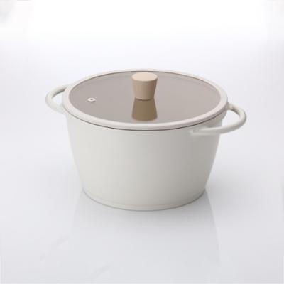 [라체나] 피콕 IH 친환경 세라믹 킹덤 양수냄비 IH 24cm/항균력 99% 피나투보 코팅공법 제조 이미지